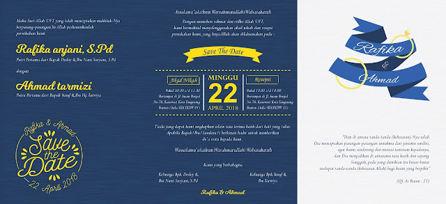Undangan Pernikahan Murah di Tangerang dengan Tema Minimalis - Walimahanid | 0812-1141-8687