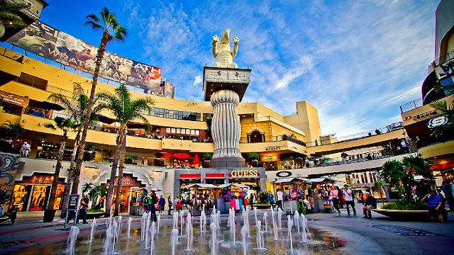 Compras nos principais centros econômicos de Los Angeles