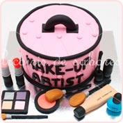 Tarta fondant maquillaje