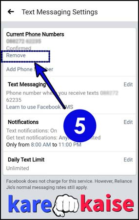 fb-se-current-phone-number-remove-kare