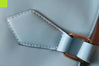 angenäht: Veevan Damen Elegante Top-Handle Schultertasche Handtaschen (Blau)