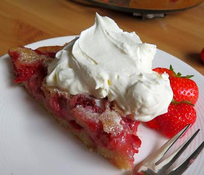 Strawberry Cake Pie