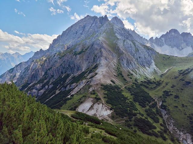 Views of the mountains through the Hochtennbodensteig hike