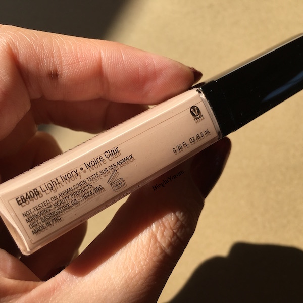 wet n wild photo focus concealer kapatıcı e840b light ivory