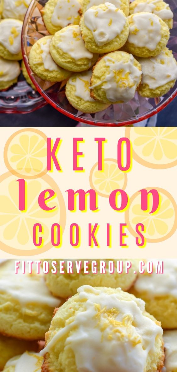 It's a recipe for keto lemon cookies. It's made with coconut flour and has a tangy lemon icing.