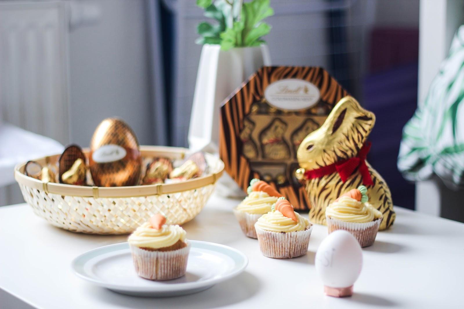 Ostern Lindt Schokohase Rübli-Muffin Cupcake