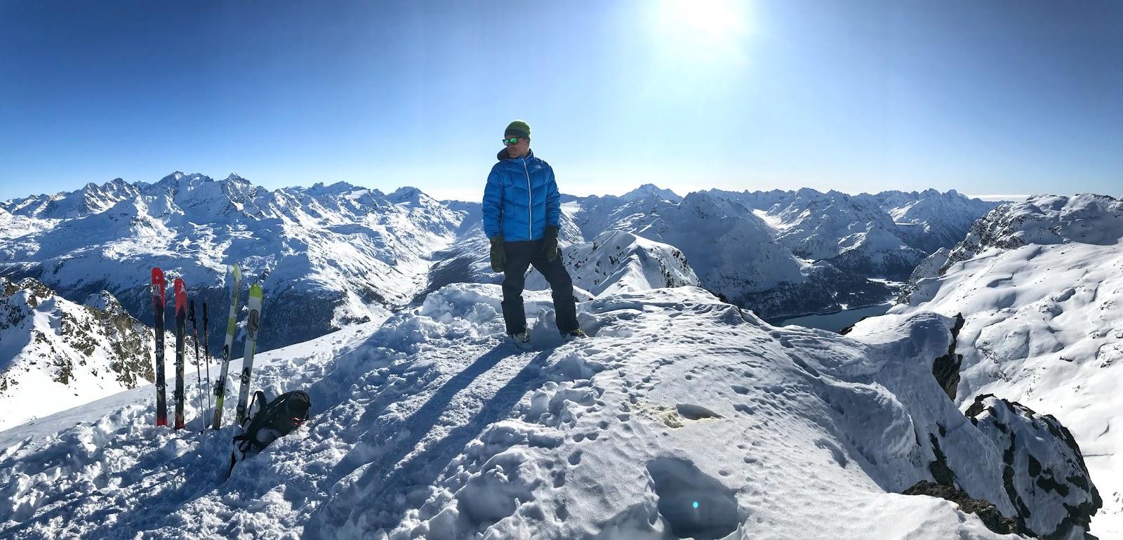 Piz Lagrev Skitour Gipfel