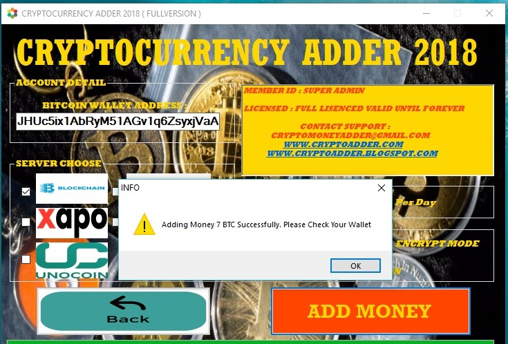Bitcoin Money Adder 2018 Check My Litecoin Account Balance
