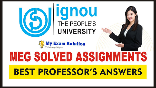 ignou meg solved assignment, ignou assignments, ma english assignments