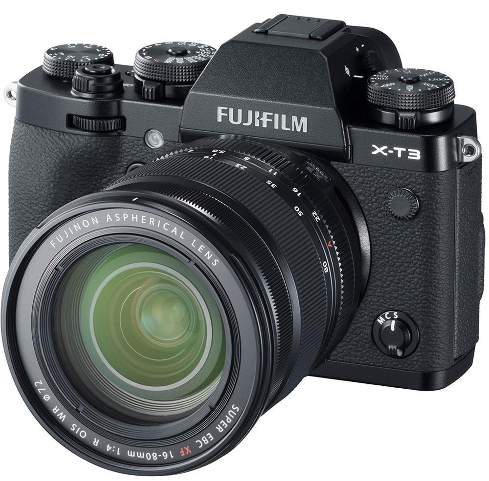 Объектив Fujinon XF 16-80mm F4.0 R OIS WR с камерой Fujifilm X-T3