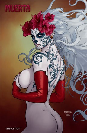 Richard Ortiz Sketchbook Lady Death Tribulation 1