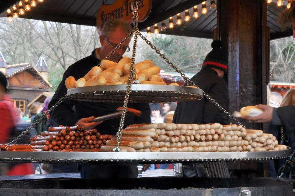 Sausages at Winter Wonderland in London's Hyde Park
