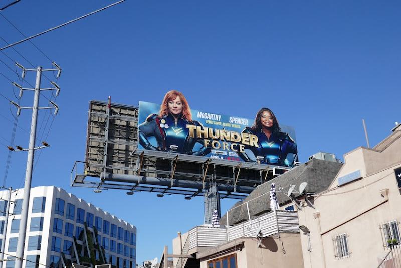 Thunder Force Netflix billboard