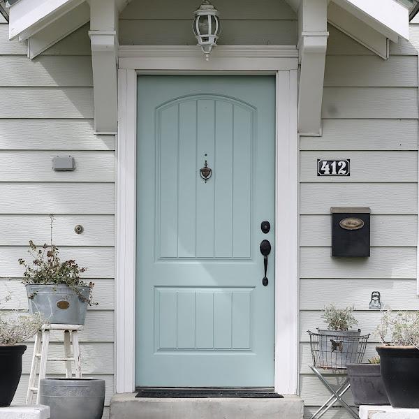 New Door Color - Wythe Blue