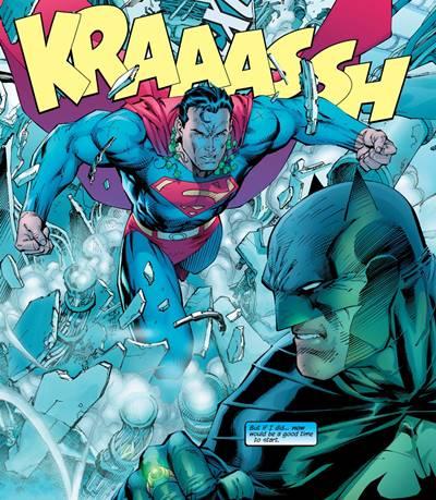 Superman va con toda su fuerza a por Batman en 'Batman Hush'