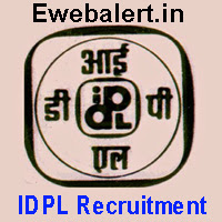 IDPL Recruitment 2017, www.idplindia.in