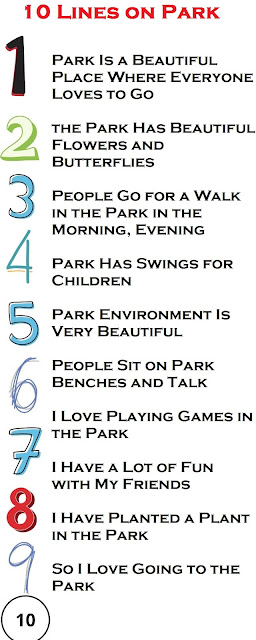 10 Lines on Park in English for Kids