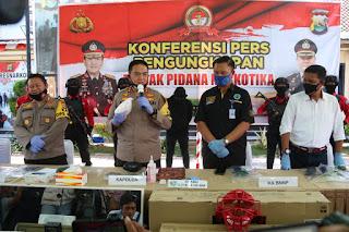 Polisi Tangkap Pengedar Sabu Partai Besar Antar Provinsi di Kota Mataram