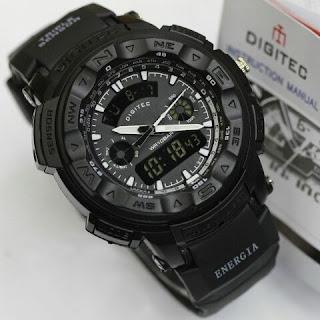 Jam tangan Digitec warna hitam