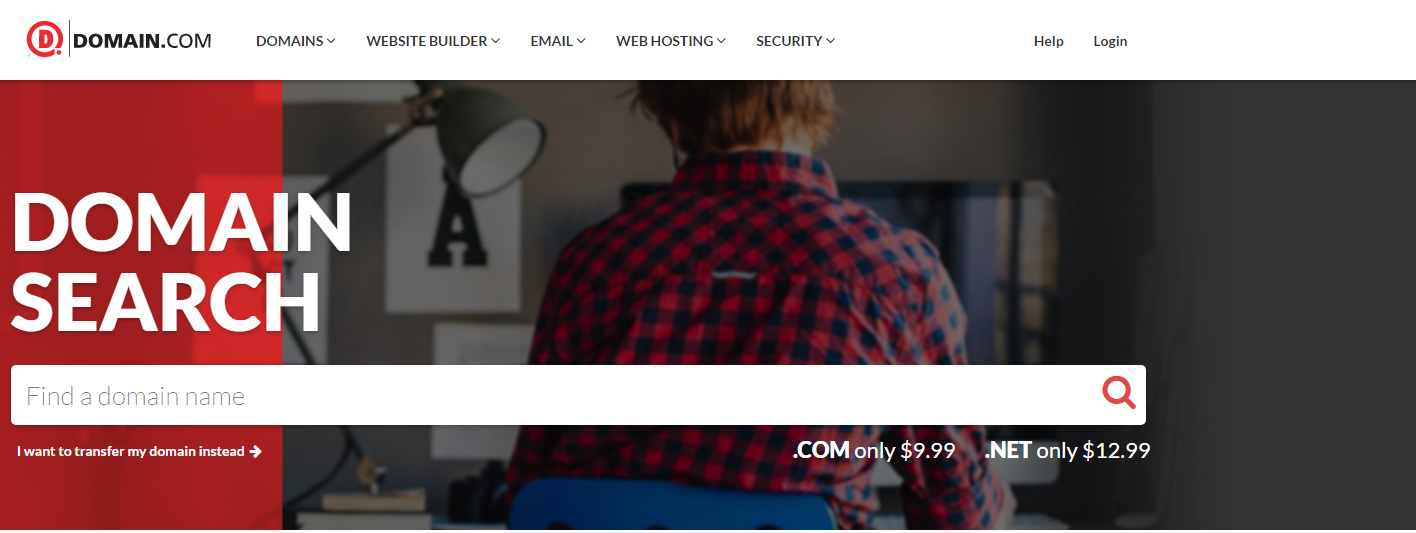 Hướng dẫn đăng ký tên miền giá rẻ tại Domain.com