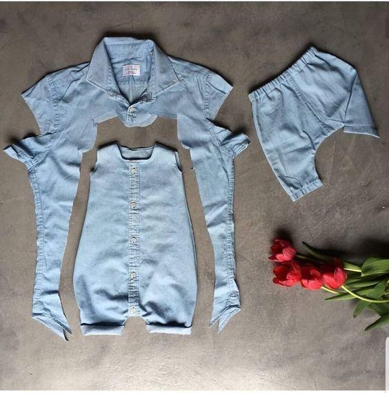 De una camisa grande un traje de niño