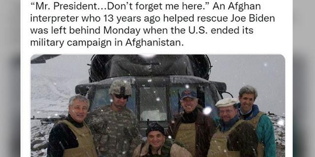 Pernah Selamatkan Biden dan John Kerry, Pria Afghanistan Minta Diselamatkan Gedung Putih