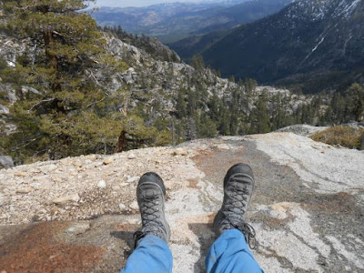 mountains, valley, hiking shoes, ravine