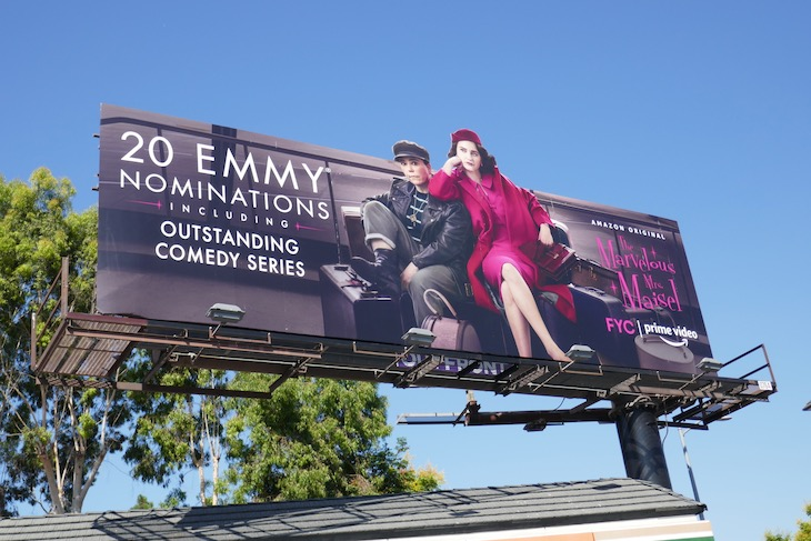 Mrs Maisel 2020 Emmy nominee billboard