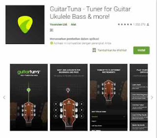 aplikasi GuitarTuna di Smarttphone Android