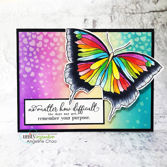 ScrappyScrappy: Brand NEW release by Unity Stamp -Forest Butterfly #scrappyscrappy #unitystampco #cardmaking #stamp #papercrafting #handmadecard #distressoxide #stencil #copicmarkers #gracielliedesign #forestbutterfly #butterfly #butterflystamp #rainbowbutterfly #rainbowink #rainbowdistressoxide #unitystampstencil #rainbowhearts
