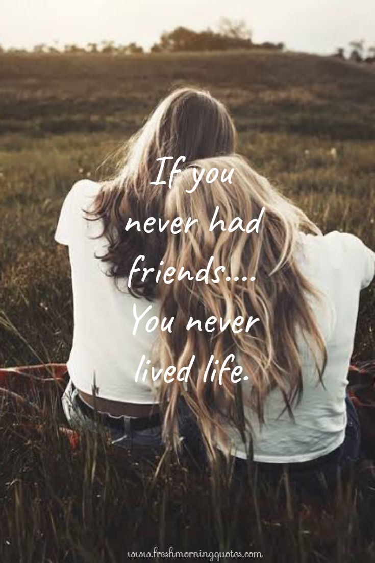 if you never had a friend
