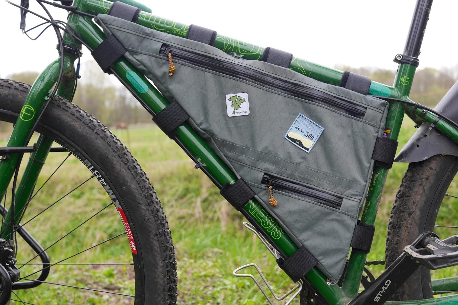 kleine Radtouren und anderes: Rahmentasche für das Genesis-MTB
