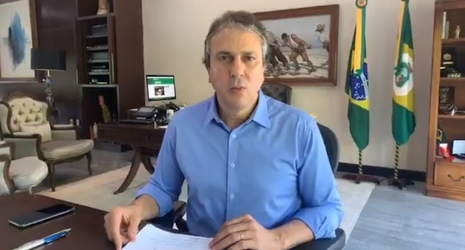 Governador Camilo Santana em novo decreto bloqueia divisas e fecha estabelecimentos comerciais