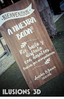 tendencias bodas carteles de madera para decoracion