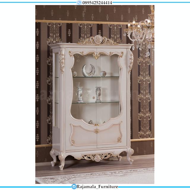 Harga Lemari Hias Kaca Mewah Luxury Classic Ukiran Jepara RM-0478