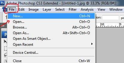 Dokumen baru Adobe Photoshop CS3 - Nandur93
