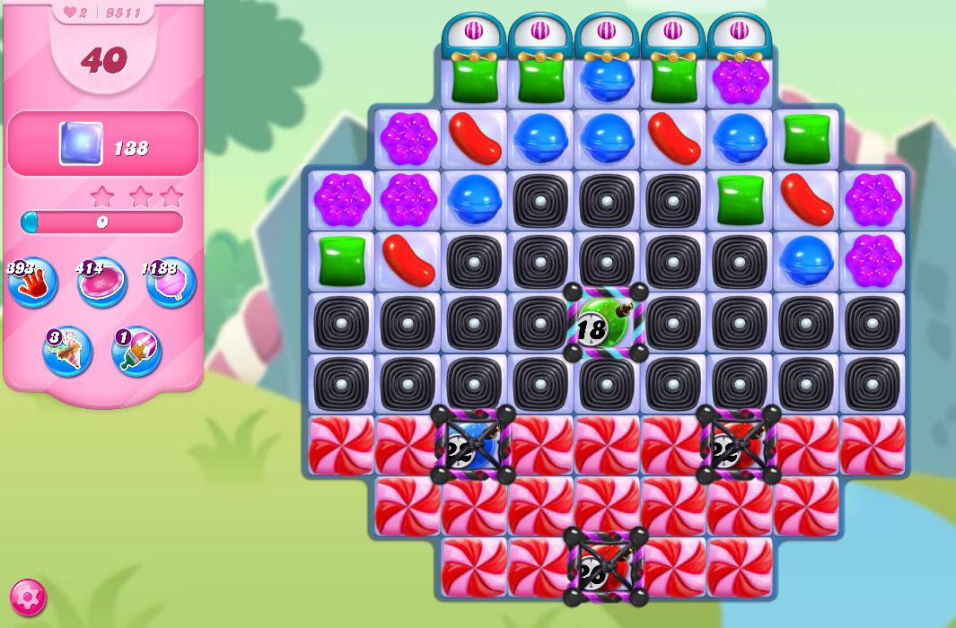 Candy Crush Saga level 9511