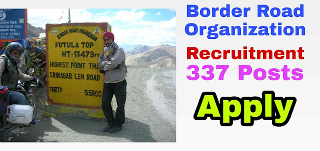 Border Roads Organization (BRO) Recruitment 2019 337 Multi-Skilled Worker, Hindi Typist and Other Posts 2019 medicineadvise.ooo