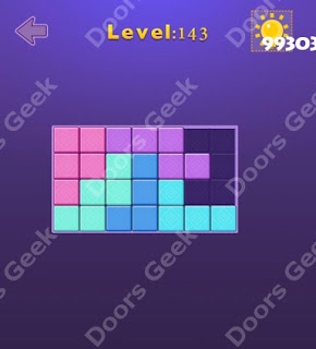 Cheats, Solutions, Walkthrough for Move Blocks Easy Level 143