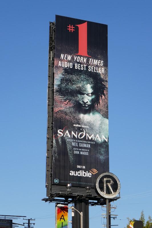 Sandman NYT audio bestseller billboard