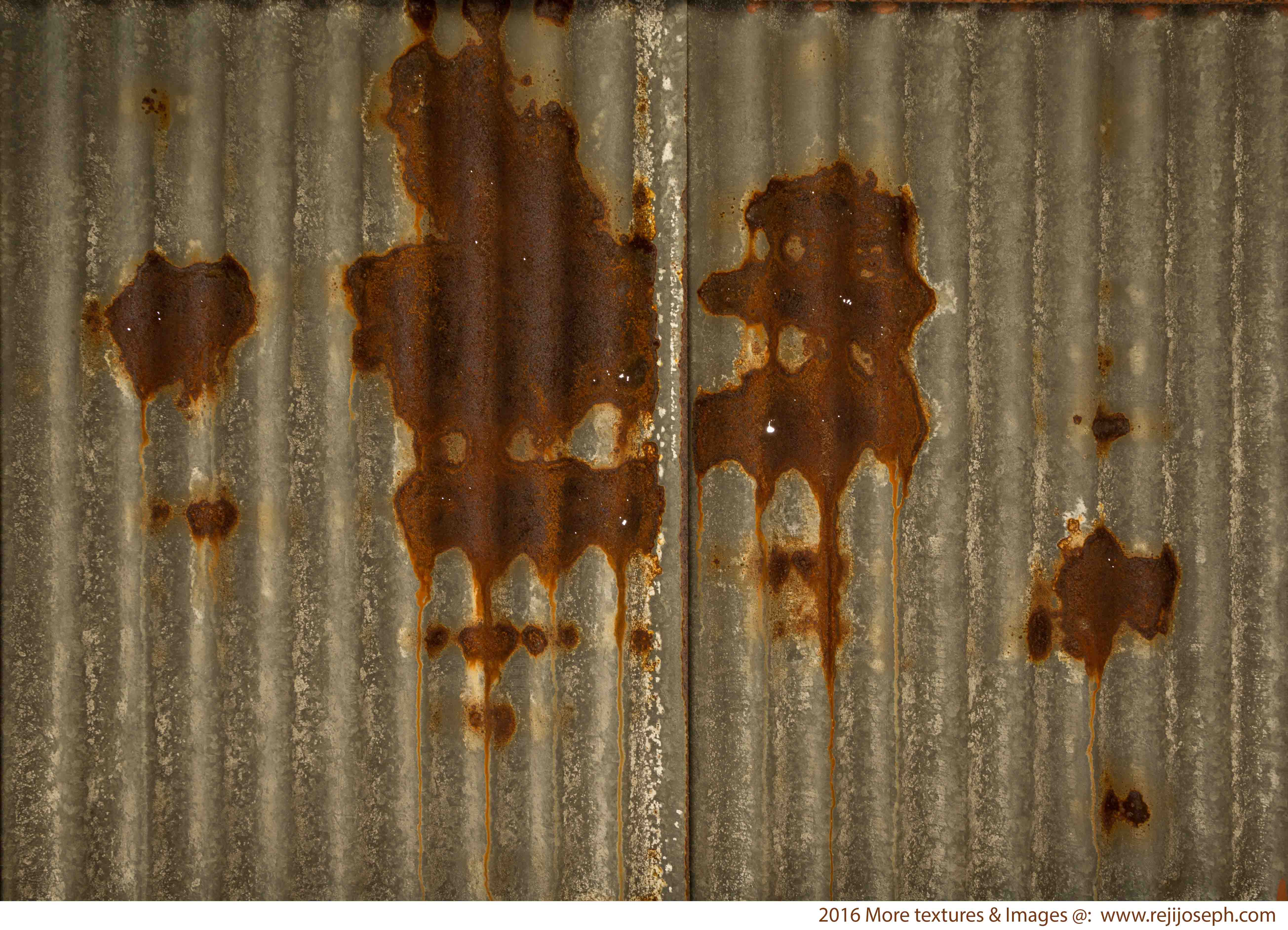 Rusty metal roof sheet texture 00001