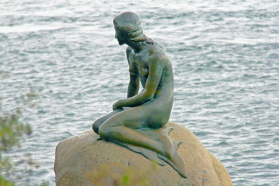 The Little Mermaid statue Copenhagen