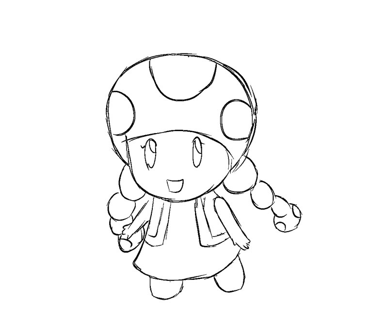 Toadette Coloriage Coloring Page