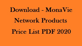 MonaVie Network Products Price List