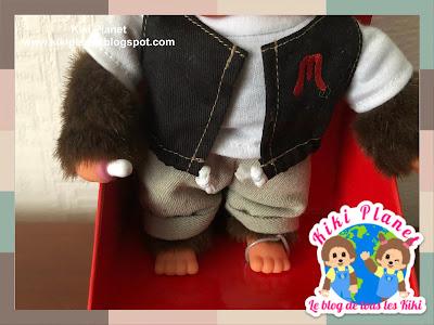 kiki monchhichi vest black cute kawaii référence 236420