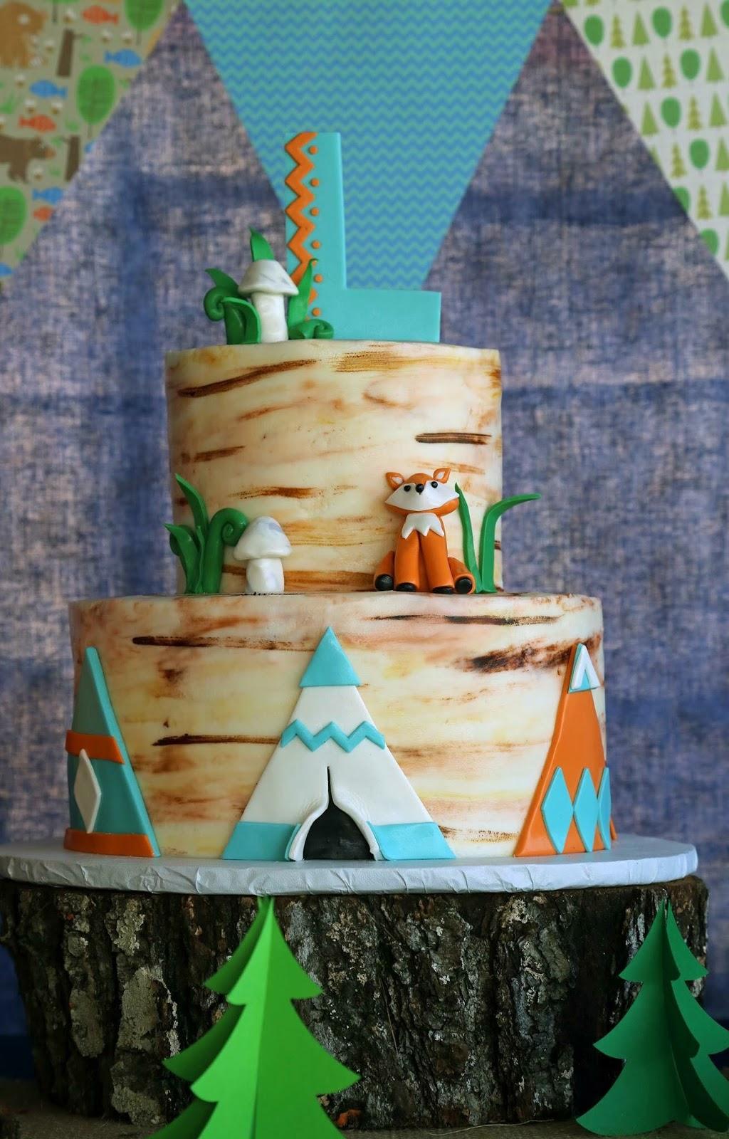 Cakes By Mindy Woodland Cake 6 Quot Amp 10 Quot Fox Smash Cake 4
