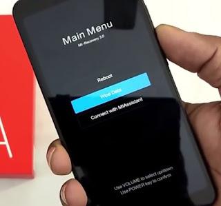 Factory Reset Xiaomi Redmi 6A