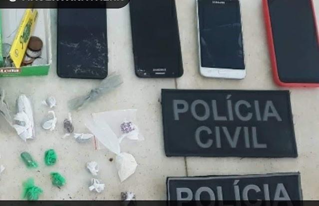 Polícia Civil prende dois suspeitos com drogas no interior do RN
