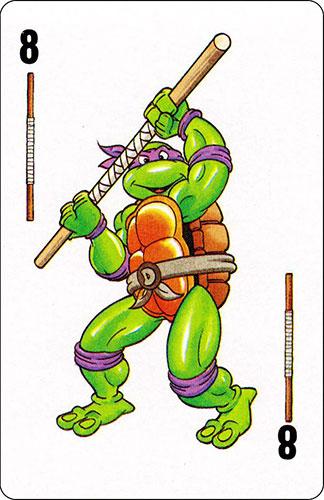 Baraja infantil Las Tortugas Ninja Fournier Carta Donatello 8
