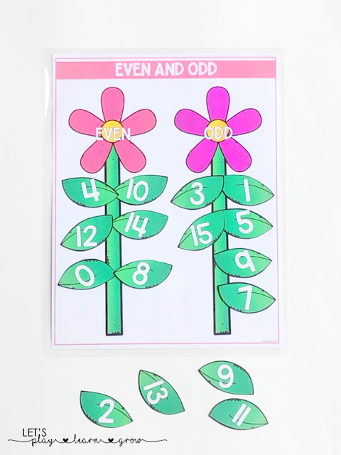 Even & Odd Number Sorting: Spring Themed Activity Binder